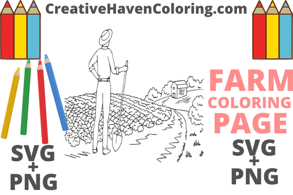 Print on Demand: Country Farm Coloring Page #3  Graphic Coloring Pages & Books Adults By creativehavencoloring