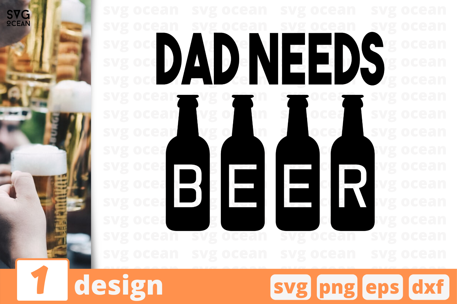 Download Free Dad Needs Beer Graphic By Svgocean Creative Fabrica for Cricut Explore, Silhouette and other cutting machines.