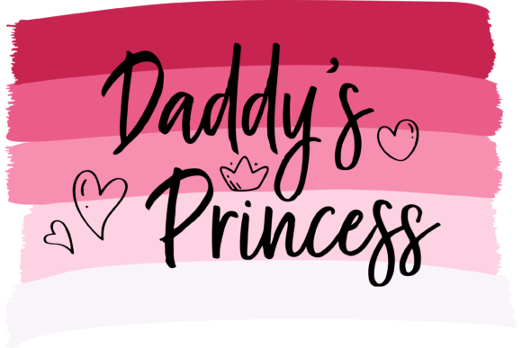 Print on Demand: Daddy's Princess Father's Day Gift Graphic Print Templates By AM Digital Designs