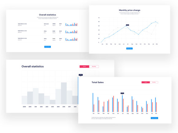 Dashboard UI KIT Graphic UX and UI Kits By artgalaxy