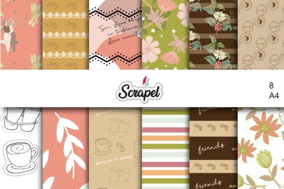 Digital Paper - Female Friendship Graphic Backgrounds By scrapel.ar