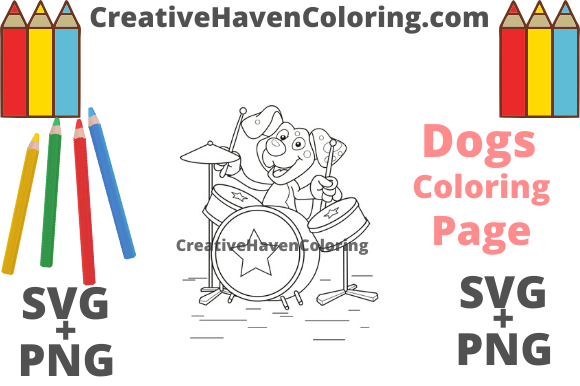Download Free Dog Coloring Page 1 Svg Png Files Graphic By for Cricut Explore, Silhouette and other cutting machines.