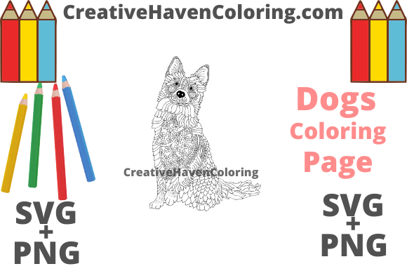 Download Free Dog Coloring Page 17 Svg Png Files Graphic By for Cricut Explore, Silhouette and other cutting machines.