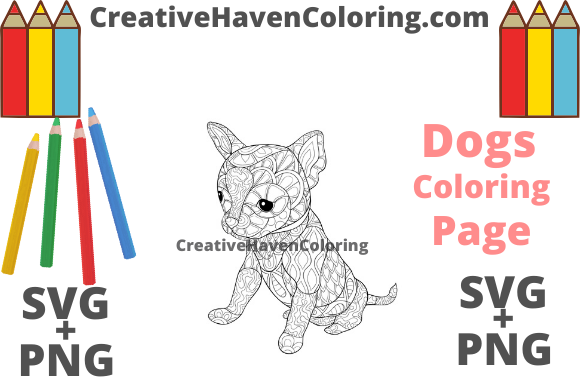 Download Free Dog Coloring Page 4 Svg Png Files Graphic By for Cricut Explore, Silhouette and other cutting machines.