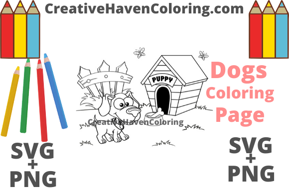 Download Free Dog Coloring Page 8 Graphic By Creativehavencoloring Creative for Cricut Explore, Silhouette and other cutting machines.