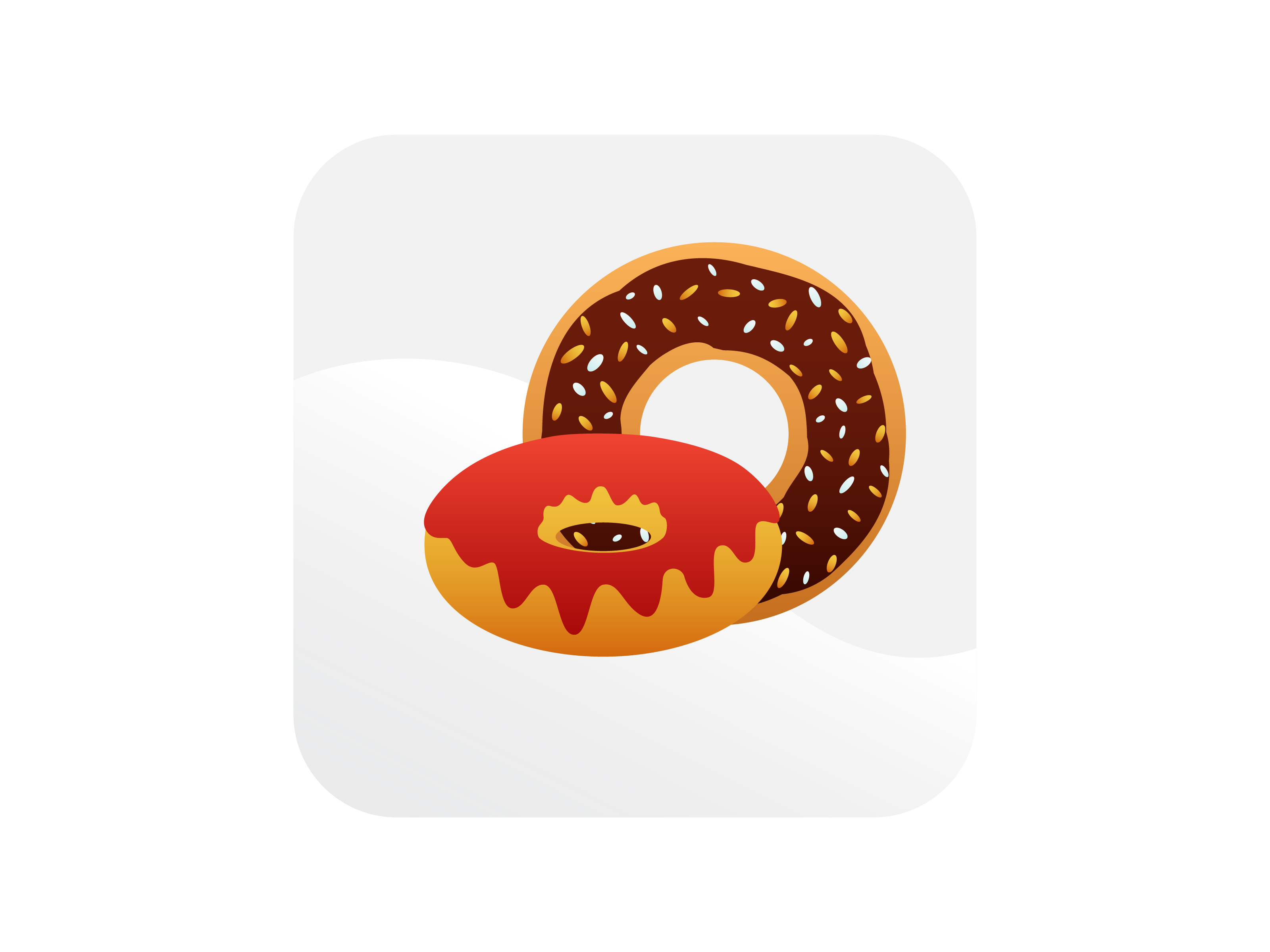 Download Free Donut Chocolate And Strawberry Icon Graphic By Samagata for Cricut Explore, Silhouette and other cutting machines.