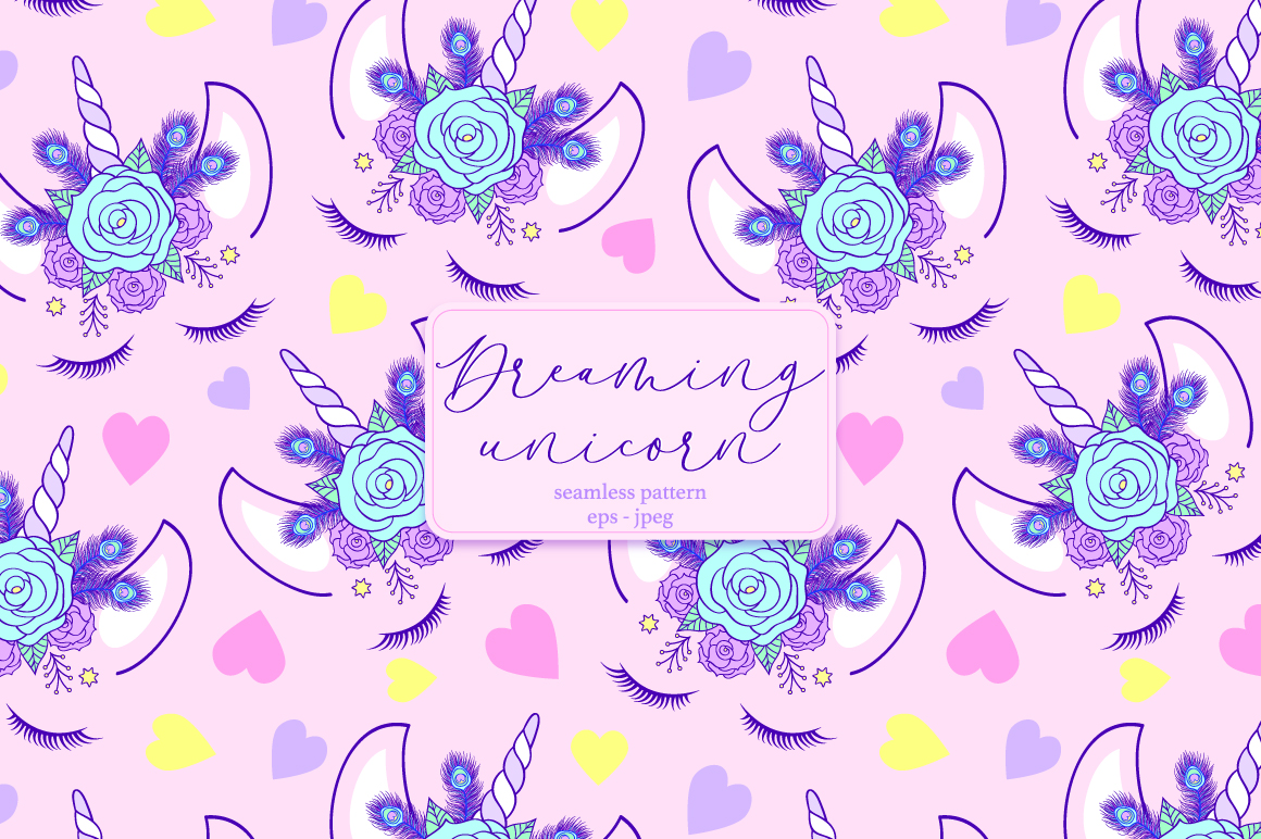 Download Free Dreaming Unicorn Graphic By Fatamorganaoptic Creative Fabrica for Cricut Explore, Silhouette and other cutting machines.
