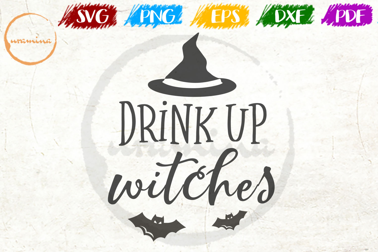 Download Free Drink Up Witches Grafico Por Uramina Creative Fabrica for Cricut Explore, Silhouette and other cutting machines.