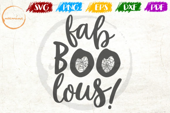Download Free Fab Boo Lous Graphic By Uramina Creative Fabrica for Cricut Explore, Silhouette and other cutting machines.