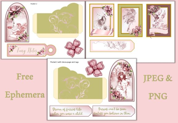 Download Free Fairy Journal Kit With Ephemera Graphic By The Paper Princess for Cricut Explore, Silhouette and other cutting machines.