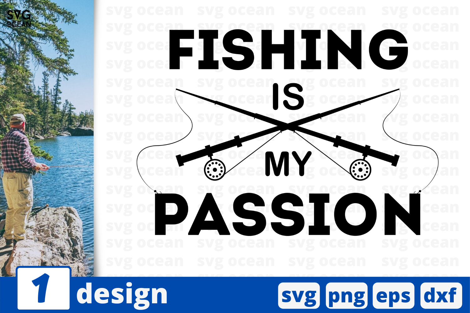 Download Free Fishing Is My Passion Graphic By Svgocean Creative Fabrica for Cricut Explore, Silhouette and other cutting machines.