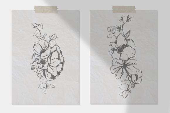 Download Free Floral Alphabet Design Graphic By Vera Vero Creative Fabrica for Cricut Explore, Silhouette and other cutting machines.