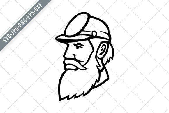 Download Free General Stonewall Jackson Head Graphic By Patrimonio Creative for Cricut Explore, Silhouette and other cutting machines.