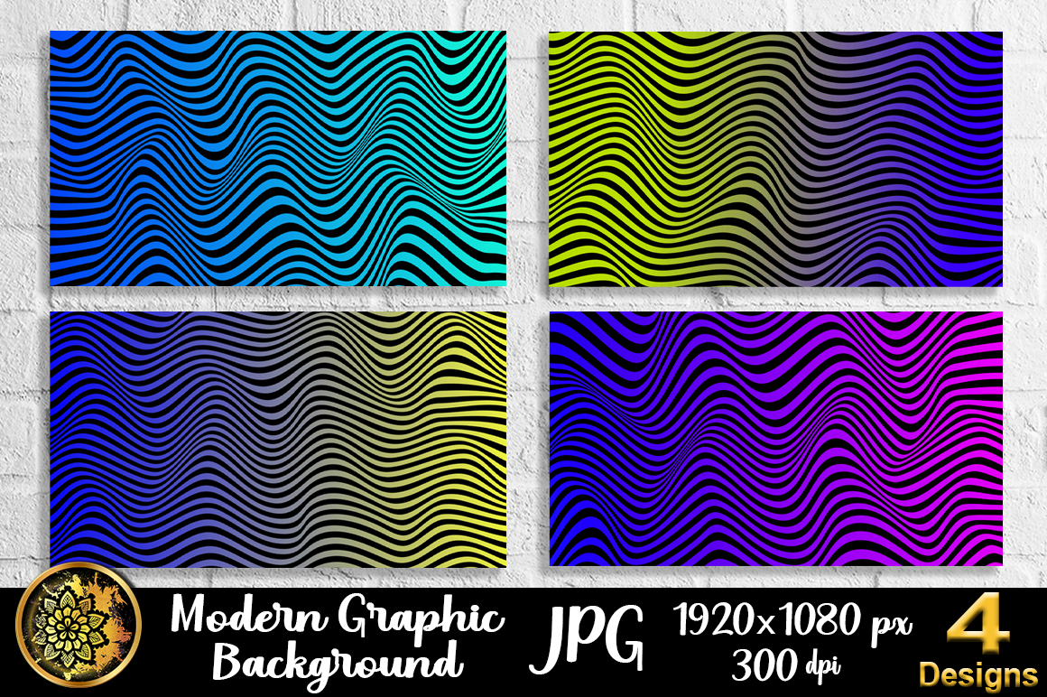 Graphic Design Wave Lineart Background 2 Graphic By V Design