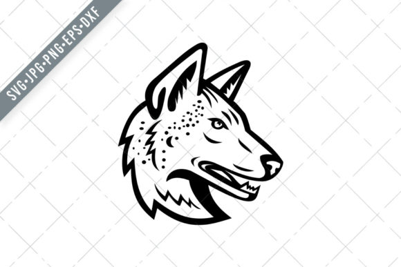 Download Free Gray Wolf Or Arabian Wolf Head Graphic By Patrimonio Creative for Cricut Explore, Silhouette and other cutting machines.