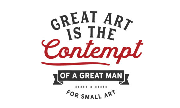 Print on Demand: Great Art is the Contempt of Graphic Illustrations By baraeiji