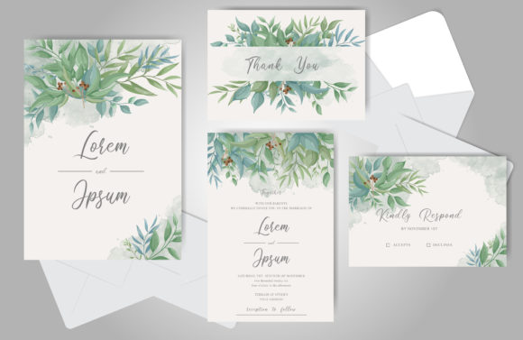Download Free Editable Elegant Wedding Invitation Card Graphic By Federiqoend for Cricut Explore, Silhouette and other cutting machines.