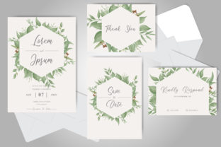 Download Free Greenery Foliage Wedding Invitation Card Graphic By Federiqoend for Cricut Explore, Silhouette and other cutting machines.
