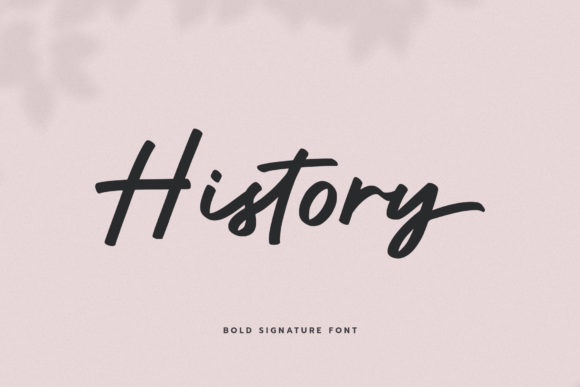 Download Free History Font By Paulhewittype Creative Fabrica for Cricut Explore, Silhouette and other cutting machines.