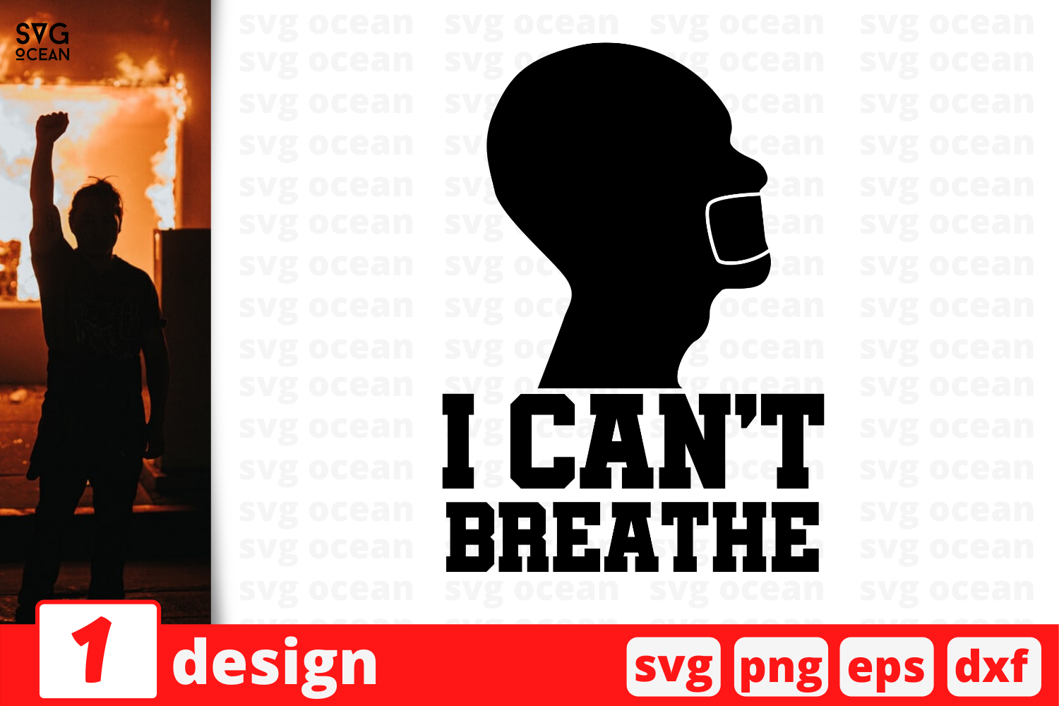 Download Free I Can T Breathe Graphic By Svgocean Creative Fabrica for Cricut Explore, Silhouette and other cutting machines.