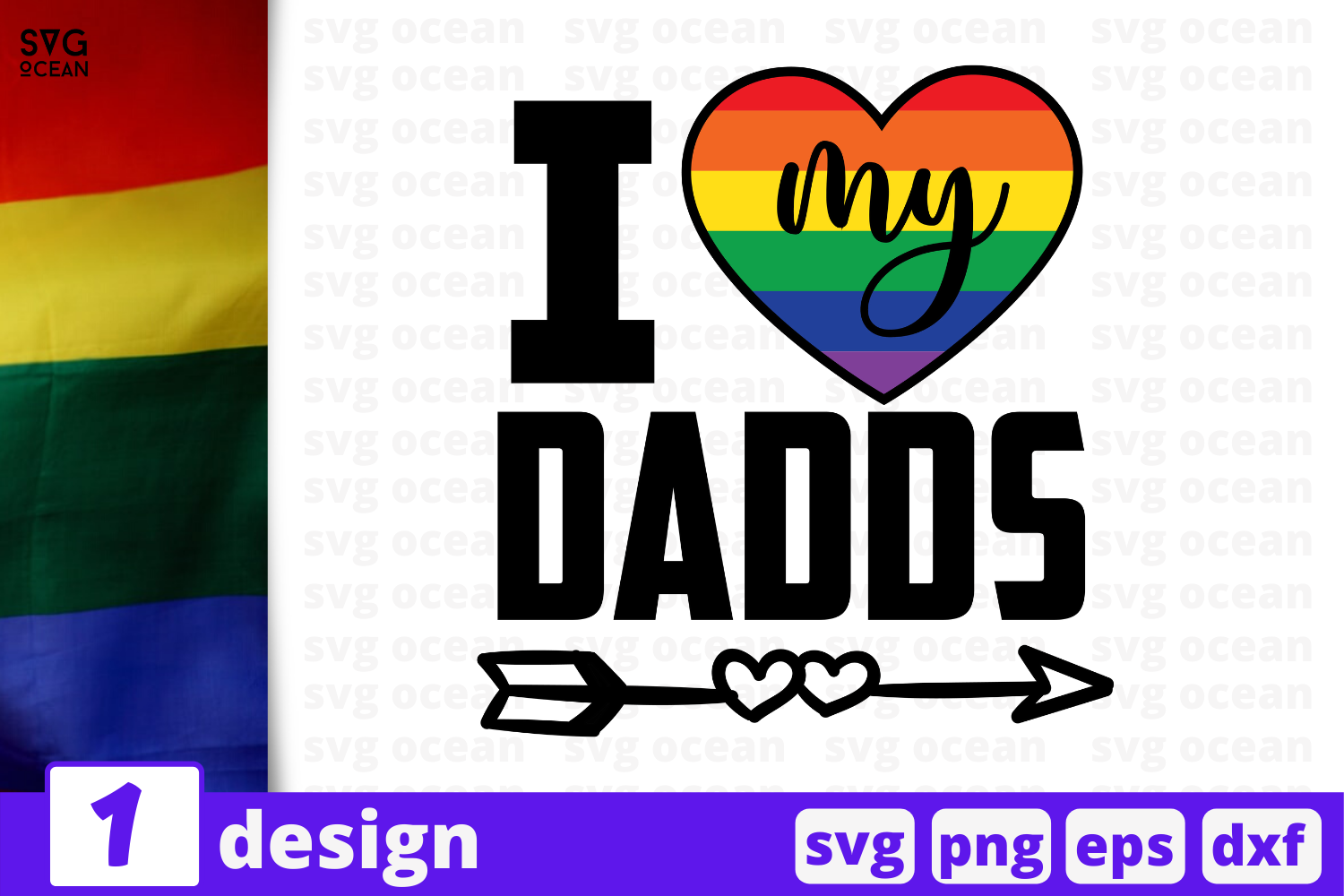 Download Free I Love My Dads Grafico Por Svgocean Creative Fabrica for Cricut Explore, Silhouette and other cutting machines.