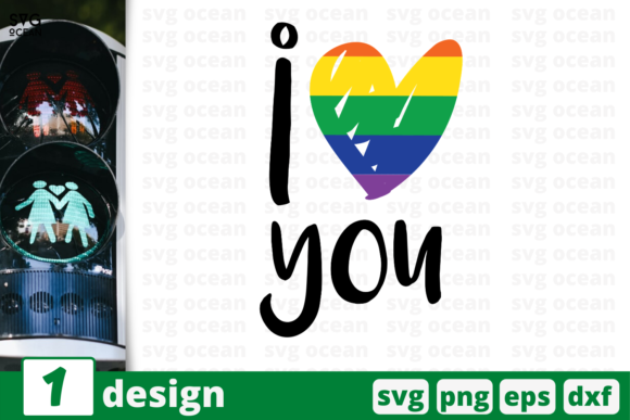 Download Free I Love You Lgbt Quotes Graphic By Svgocean Creative Fabrica for Cricut Explore, Silhouette and other cutting machines.