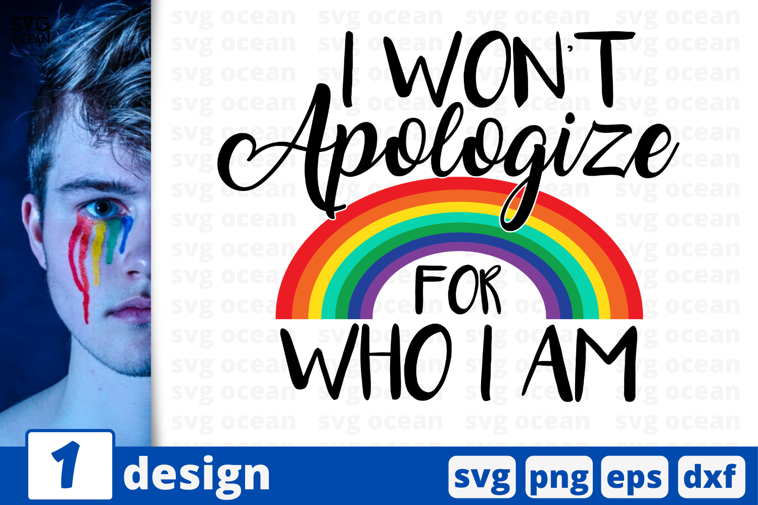 Download Free I Won T Apologize For Who I Am Graphic By Svgocean Creative for Cricut Explore, Silhouette and other cutting machines.