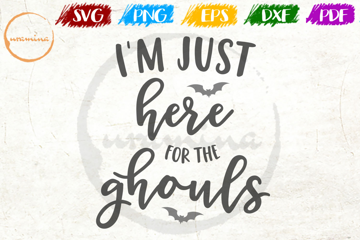 I M Just Here For The Ghouls Graphic By Uramina Creative Fabrica