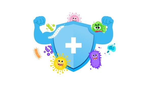 Immune System Concept. Hygienic Medical Graphic Health By DEEMKA STUDIO