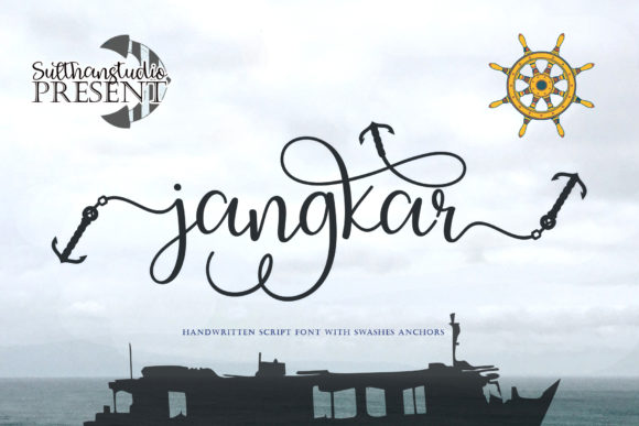 Download Free Jangkar Font By Sulthan Studio Creative Fabrica for Cricut Explore, Silhouette and other cutting machines.