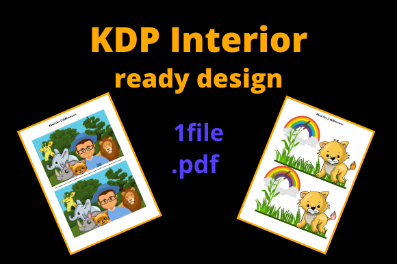 Print on Demand: KDP Interior Find the 7 Differences Graphic KDP Interiors By Dunkyshot