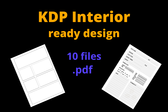 Print on Demand: KDP Interior Pack 10 Ready Designs Graphic KDP Interiors By Dunkyshot