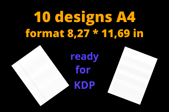 Download Free Kdp Interior Pack 10 Ready Designs Graphic By Dunkyshot for Cricut Explore, Silhouette and other cutting machines.