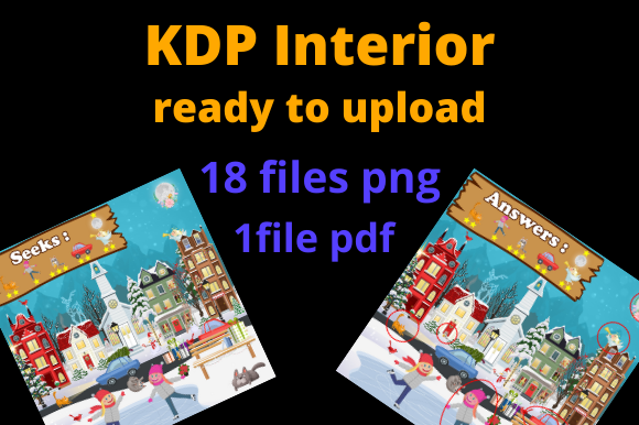 Print on Demand: KDP Search and Find Ready Design Graphic KDP Interiors By Dunkyshot