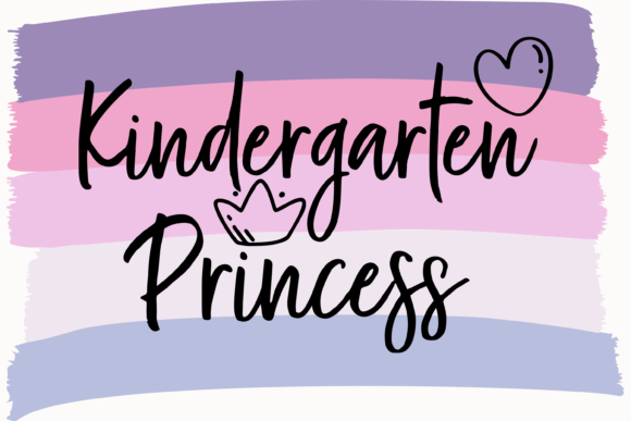Print on Demand: Kindergarten Princess First Day Graphic Print Templates By AM Digital Designs