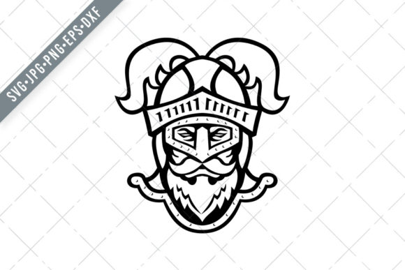 Download Free Knight Head Wearing A Helmet Graphic By Patrimonio Creative for Cricut Explore, Silhouette and other cutting machines.