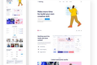 Landing Page KIT Graphic UX and UI Kits By artgalaxy