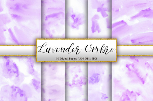 Download Free Lavender Ombre Watercolor Background Graphic By Pinkpearly for Cricut Explore, Silhouette and other cutting machines.