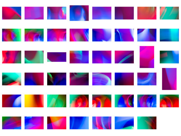 Print on Demand: Light Painting Backgrounds #3 Neon Graphic Abstract By Sharasfonts