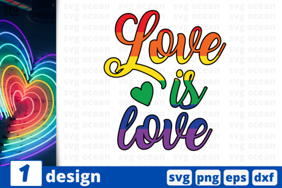Download Free Love Is Love Graphic By Svgocean Creative Fabrica for Cricut Explore, Silhouette and other cutting machines.