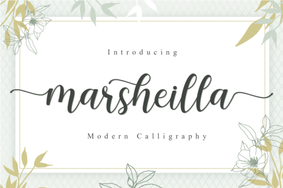 Print on Demand: Marsheilla Script & Handwritten Font By Manjalistudio