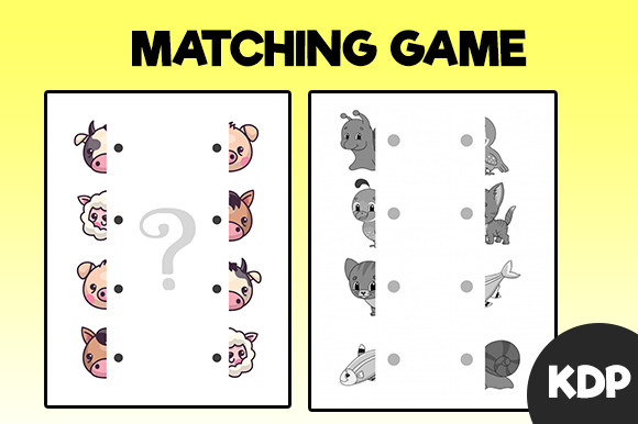 Matching Game for Kids | Kdp Interior Graphic KDP Interiors By MK DESIGNS - Image 1