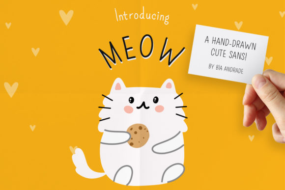 Print on Demand: Meow Script & Handwritten Font By Just Bia