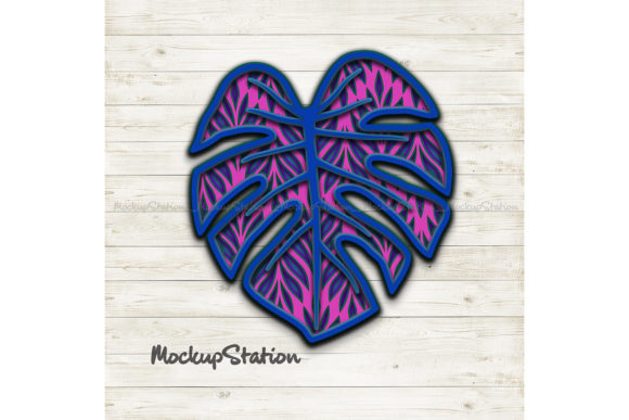Download Free Monstera Leaf 3d Layered Mandala Graphic By Mockup Station for Cricut Explore, Silhouette and other cutting machines.