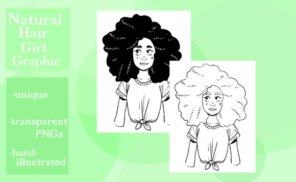 Print on Demand: Natural Hair Girl Graphic Graphic Illustrations By madelinehaleart