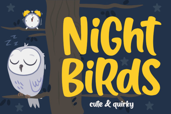 Print on Demand: Night Birds Display Font By Orenari