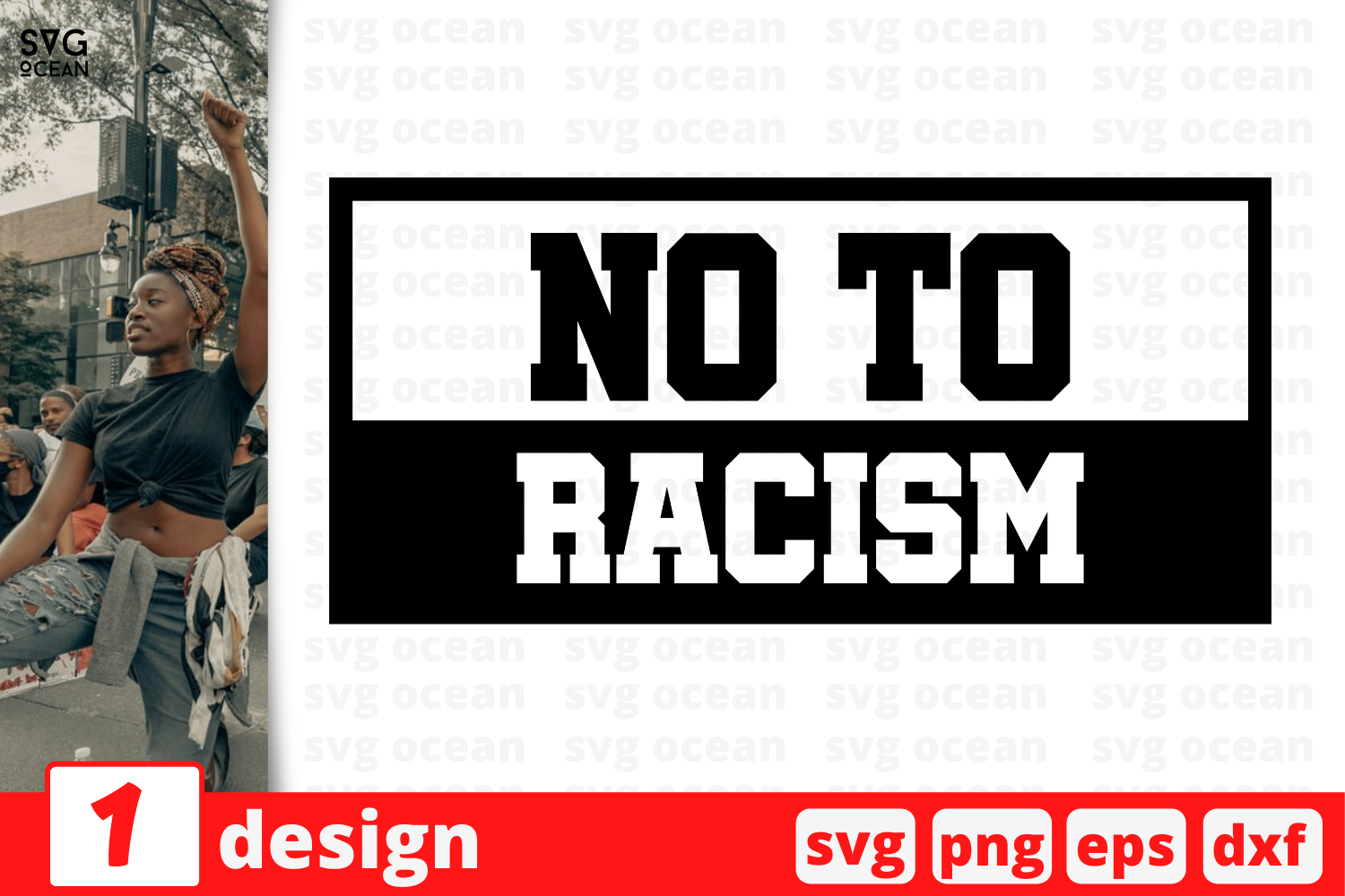Download Free No To Racism Graphic By Svgocean Creative Fabrica for Cricut Explore, Silhouette and other cutting machines.