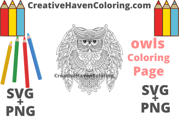 Download Free Owl Coloring Page 10 Graphic By Creativehavencoloring for Cricut Explore, Silhouette and other cutting machines.