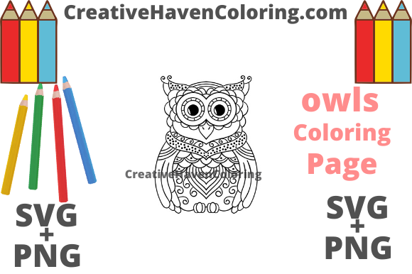 Download Free Owl Coloring Page 12 Graphic By Creativehavencoloring for Cricut Explore, Silhouette and other cutting machines.