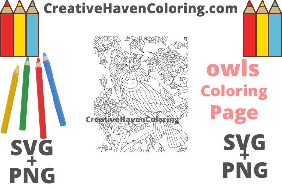 Download Free Owl Coloring Page 13 Svg Png Graphic By for Cricut Explore, Silhouette and other cutting machines.